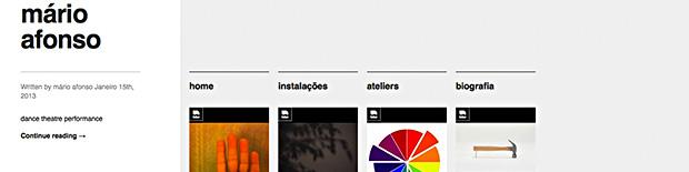 Nova versão do site marioafonso.net | Fevereiro 2013